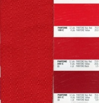 32mm RED Poly/Acrylic Twill webbing CLEARANCE